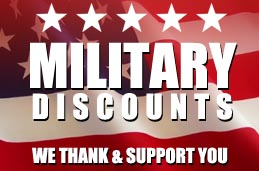 10% discount to military personal and first responders